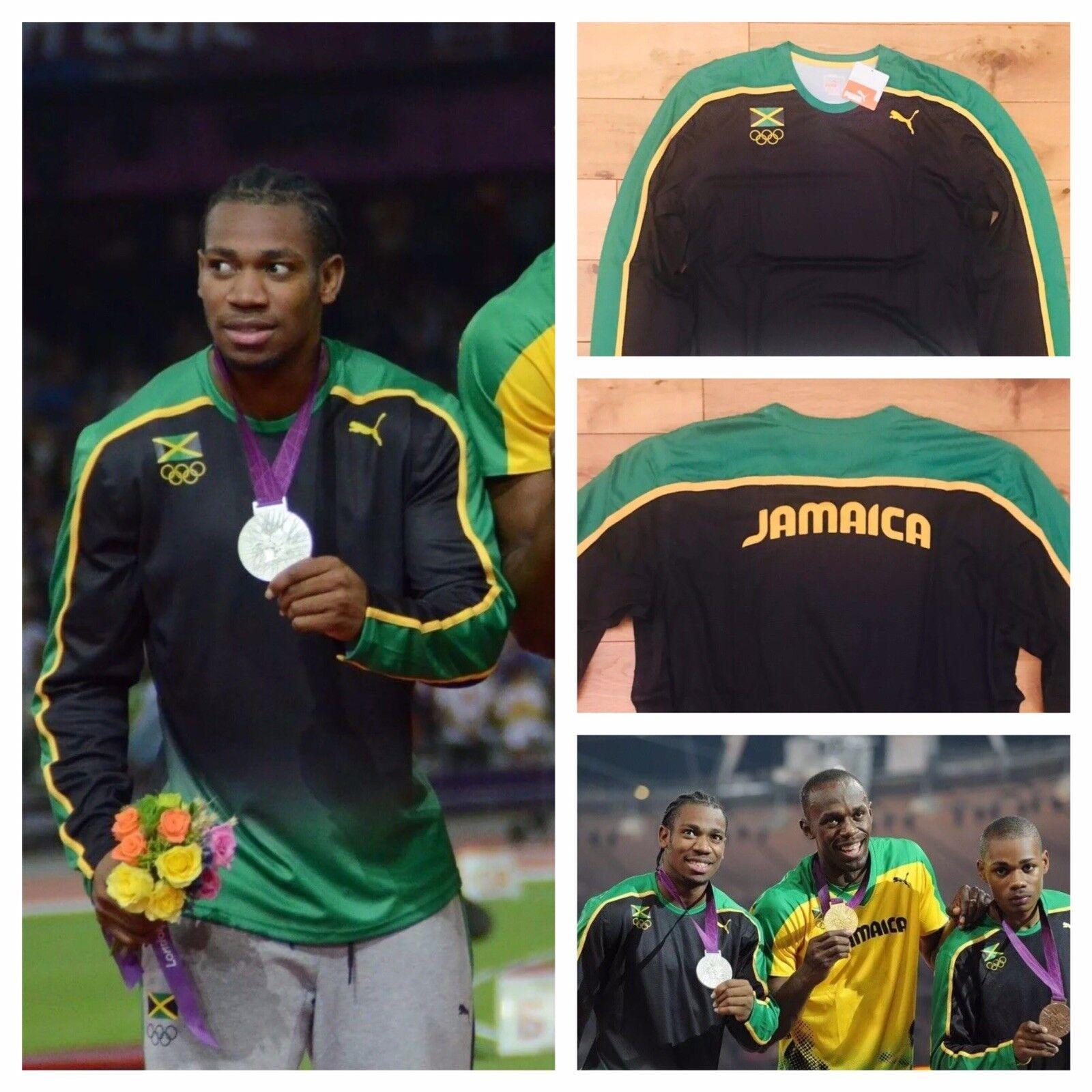 Puma Jamaica pro Elite Ausgabe Herren 2012 Olympisches Langärmliges Oberteil