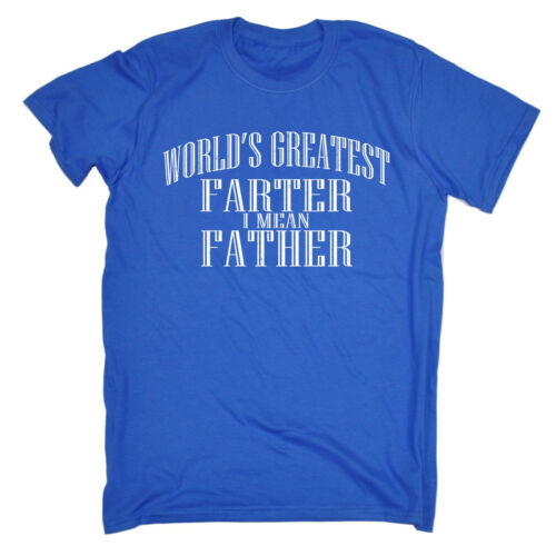 Worlds Greatest Farter T-Shirt Homme Tee-Shirt Cadeau D/'Anniversaire Papa Daddy Day Funny