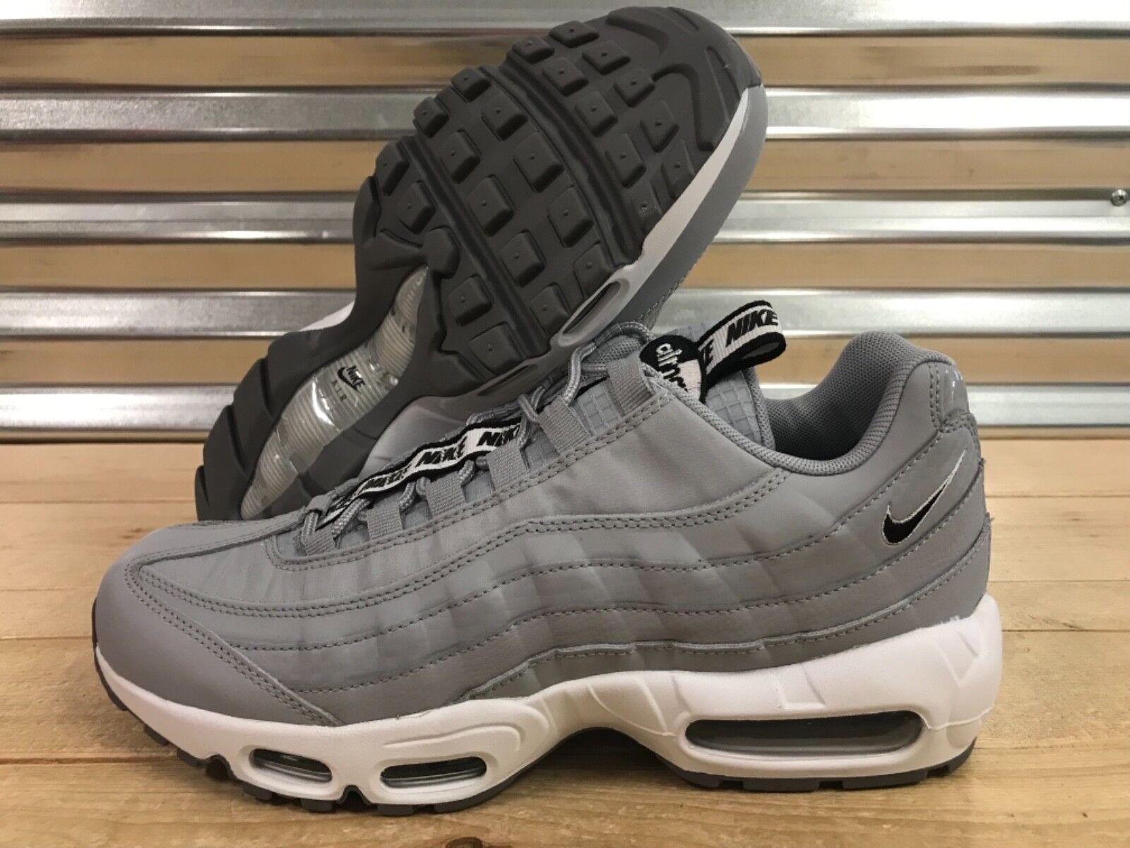 Nike Air Max 95 SE Pull Tab Running shoes Wolf Grey White SZ ( AQ4129-001 )