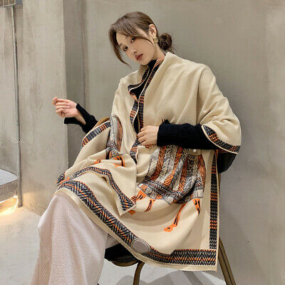 Imitate Cashmere Long Scarf Women Vintage Giraffe Print Kerchief Shawl 190*60cm