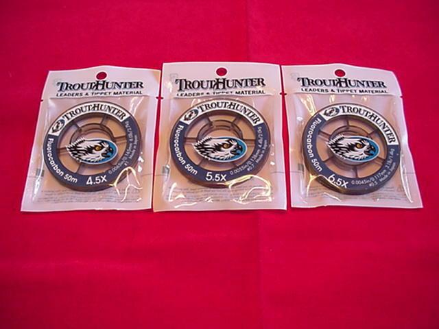 Trout Hunter Rene Harrop Tippet Material Fluor 4.5X; 5.5X & 6.5X  GREAT