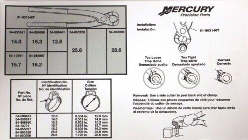 Oetiker Hose clamp kit EFI DFI 91-803146A04 Optimax Genuine  Mercury