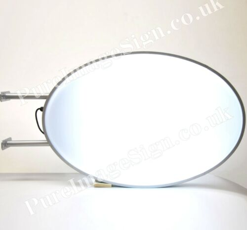 """LED 22/""""x32/"""" Double Sided Outdoor Oval Projecting Light Box Sign 55x80cm"""