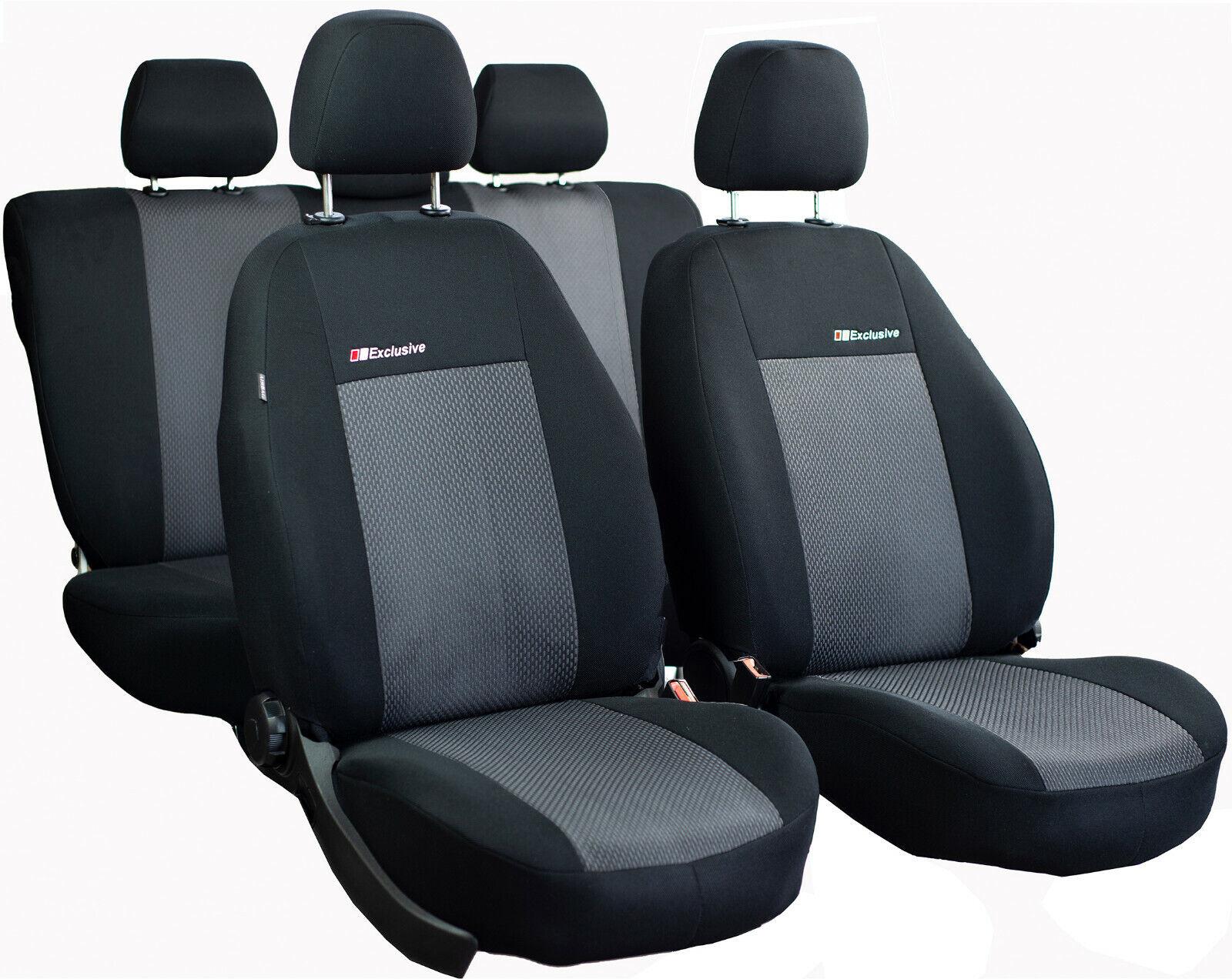 Hyundai Tucson III BJ ab 2015 Maß Sitzbezüge Schonbezüge Kunstleder schwarz