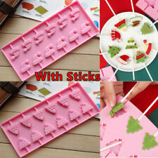 Christmas Silicone Lollipop Mould Tray Candy Pop Lollypop Chocolate Baking Mold