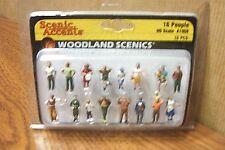 WOODLAND SCENICS 16 PEOPLE HO SCALE FIGURES