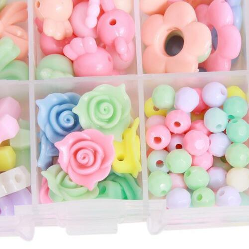 Multicolor Jewelry Beads Kids Educational Training Set Children/'s DIY Crafts 6A