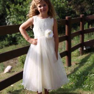3f669ebff017 New WHITE Flower Girl Dress Communion Confirmation Junior Wedding ...