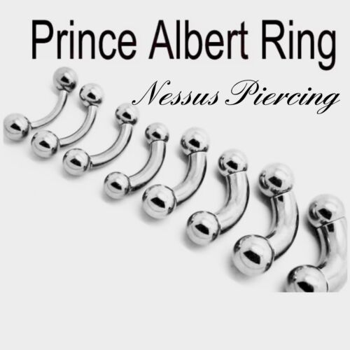 Prince Albert curved bar piercing surgical steel stretch 2mm-10mm horseshoe