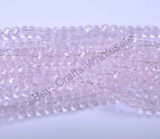 100Pcs Quality Pink Czech Crystal GLASS Faceted Rondelle Spacer Beads 4MM