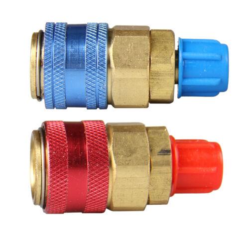 Low//High R134a Quick Connector Adapter Coupler Auto Car A//C Brass Manifold Gauge