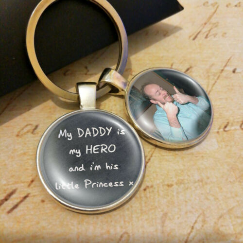 Personalised Dad Daddy Photo Keyring Hero Fathers Day Presents Daughter Gifts
