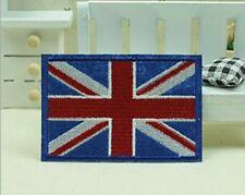 22127 UK British Flag Union Jack England Pride Embroidered Iron Sew On Patch NEW