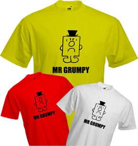 MR-GRUMPY-T-Shirt-Birthday-Old-Grouchy-Bad-Tempered-Quality-NEW