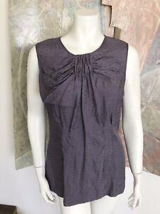 BCBG MaxAzria Lavender Purple Silk BCBGMaxAzria Max Azria Blouse Top Size Large