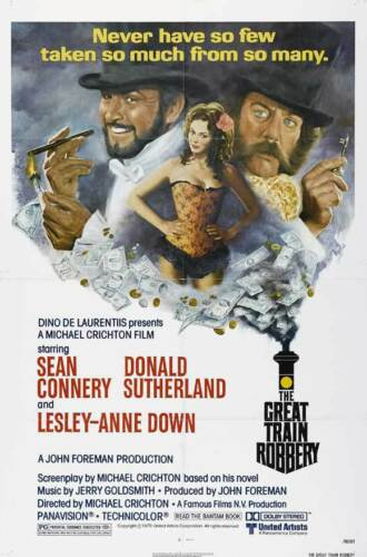 THE GREAT TRAIN ROBBERY Movie POSTER 27x40 Sean Connery Donald Sutherland