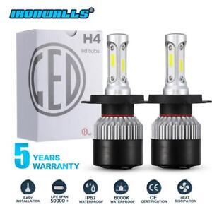 Nissan-Navara-D22-D40-H4-LED-Headlight-KIT-Globes-Bulbs-vs-hid-Xenon-Halogen