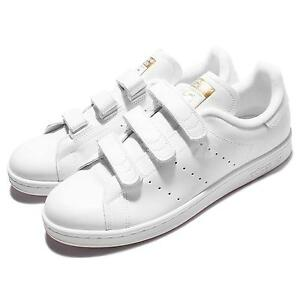 adidas Originals Stan Smith CF White Gold Strap Men Shoes Sneakers S75188