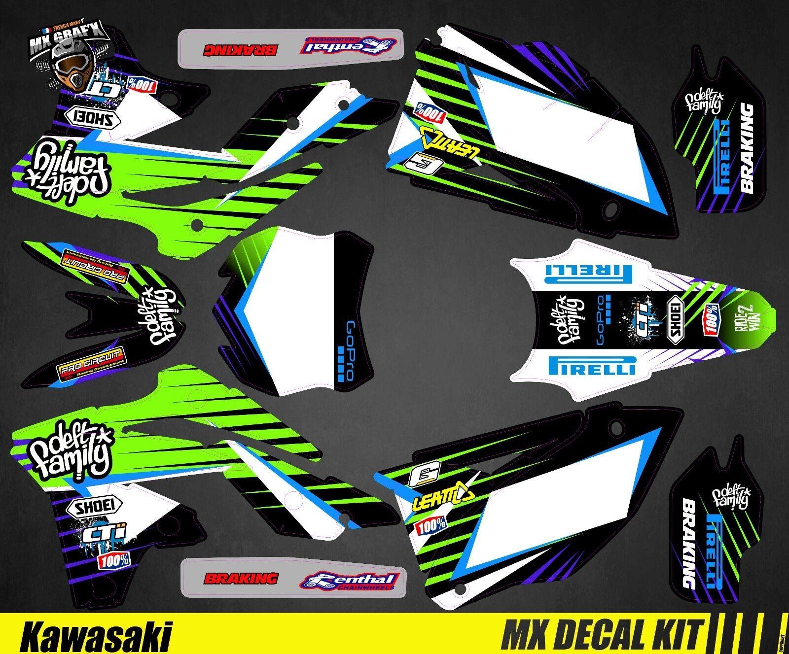 Kit Decoración para Moto   Mx Calcomanía Kit para Kawasaki Kxf - Deft F
