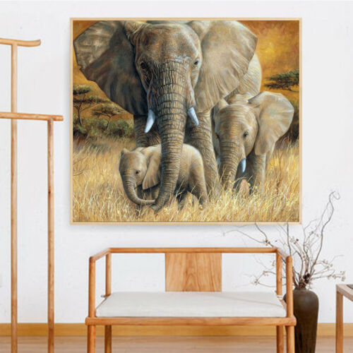 5D Elephant Diamond Painting Full Drill Animal Art Kits Embroidery Decor Gifts