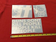3 Sticker Pack G2 Hello Kitty gun F* It Guns Dont Kill People Do jdm combo Bomb