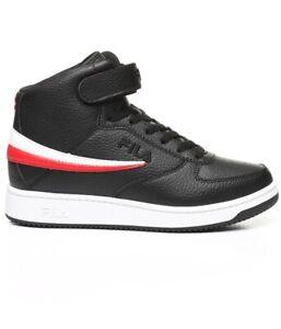 Fila Para hombres Talla 10 A-Alta Negro/Rojo/Blanco Zapatos ...