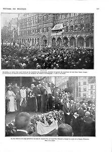 """WWI Hôtel de Ville Bruxelles Brabançonne Poincaré Légion d'Honneur ILLUSTRATION - France - Commentaires du vendeur : """"OCCASION"""" - France"""