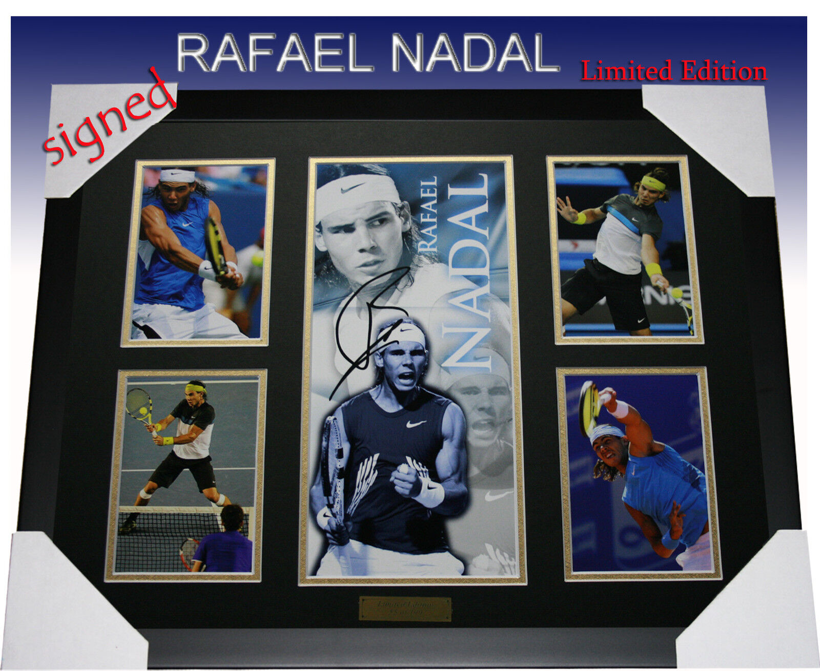 RAFAEL NADAL TENNIS MEMORABILIA SIGNED LTD EDITION 499