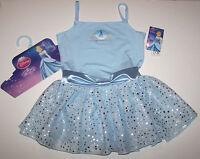Capezio Disney Princess Leotard Dress Cinderella Hologram Blue Cute Girl