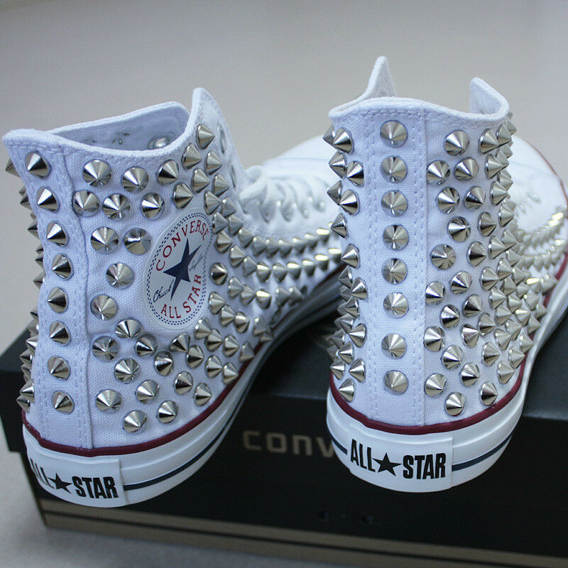 Genuine CONVERSE ALL-STAR avec rivets paniers sheos Blanc