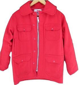 Mens-Red-Woolrich-Hunting-Vintage-Coat-Jacket-Wool-38-Large-Mackinaw-Lumberjack