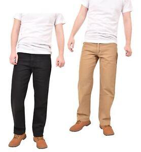 Pantalon-Vaquero-De-Hombre-Pierna-Recta-Cremallera-Algodon-Pantalones-informales-Pantalones-Cintura
