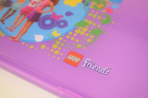 "PURPLE Plastic Box Clutch NEW 11/"" x 6/"" LEGO MiniFigure FRIENDS Storage Case"