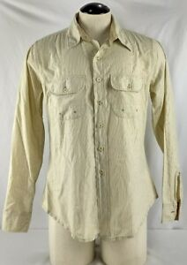 Mens-AG-Adriano-Goldschmied-Striped-Casual-Button-Up-Size-XL