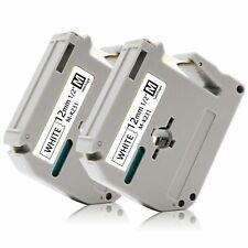 2 Pkpack Label Tape For Brother P Touch Eqv M231 M K231 Mk231 Blackwhite 12