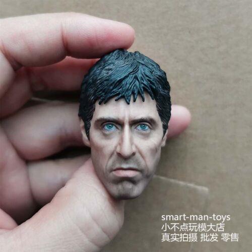 """Custom 1//6 Al Pacino of Scarface Head Sculpt Fit 12/"""" figure Body"""