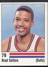 Panini NBA Basketball 1989 Sticker - No 79 - Brad Sellers - Bulls