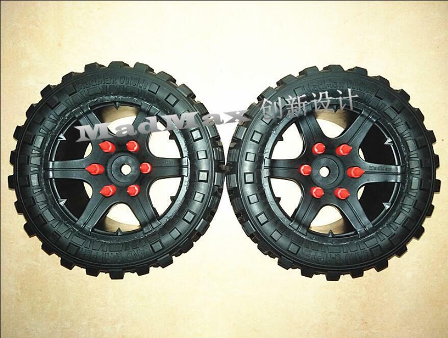 220106mm rueda tire tyre for  Traxxas X-maxx 6s 8s 17mm hex 2pcs  100% di contro garanzia genuina