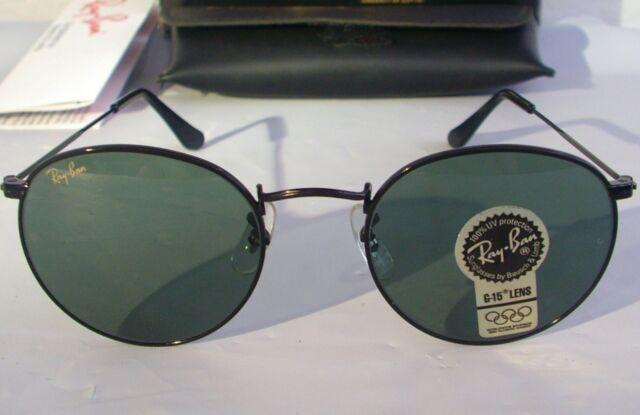Vintage Ray Ban Bausch and Lomb W0604 Black Round John Lennon 50mm ... 34362d8199be