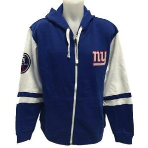 55ad0f11 NFL Men's New York Giants Zipper Hoody Sweatshirt Large Football ...