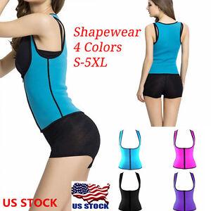 fc63e08e439 Women Neoprene Push Up Vest Sweat Waist Trainer Hot Body Shaper ...