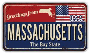 """Massachusetts USA State Flag Emblem Car Bumper Sticker Decal /""""SIZES/"""""""