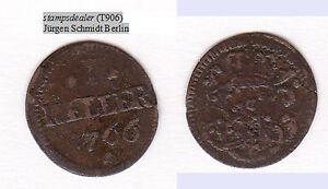 Cu Heller 1766 Sachsen-Hildburghausen Ernst Friedrich Karl Hollmann 116