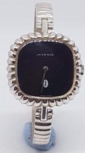 STUNNING-QUALITY-JUVENIA-LADIES-SOLID-SILVER-BANGLE-WATCH-1970