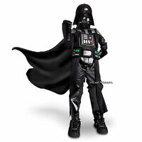 Star Wars Darth Vader Boys Deluxe Costume Disney Store Bodysuit Mask Belt Cape