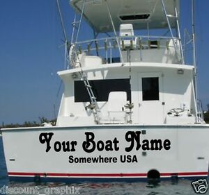 Details About Custom Transom Boat Name Vinyl Decal Lettering Sticker Registration Store Sign