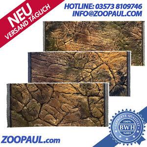 Aquarium Struckturwand 50x30 Jusqu'à 200x60cm terrarium 3d fond mur de roche pierre plate