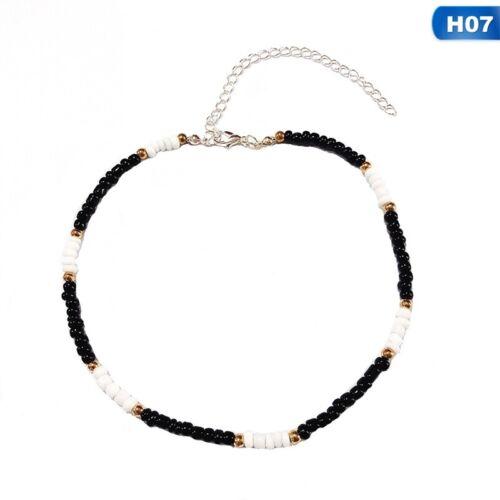 Collier Tour de cou petit tour de cou de perles Boho Coloré Collier Tour de Cou Chaîne Bijoux
