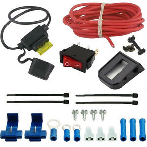 automotive electric radiator fan manual rocker switch wiring kit single toggle ebay. Black Bedroom Furniture Sets. Home Design Ideas
