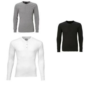 Levi-039-s-Camiseta-Interior-Hombre-300ls-Manga-Larga-Henley-1p-Liso-Manga-Larga
